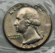 1982-d Washington Quarter From Souvenir Set Youand039ll Receive The Coin Shown [sn01]