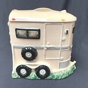 Montana Lifestyles Horse Trailer Cookie Jar Horse Chip Cookies Large