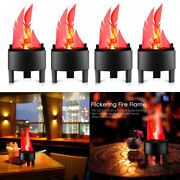 4pack Led Flame Fire Light Effect Standing Lamp Fake Flame Light Fire Bowl Decor