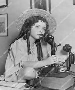 Crp-11491 1920and039s Cute Child Star Virginia Marshall Calls Tom Mix On Telephone Cr