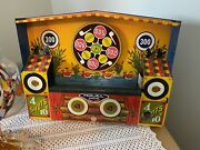 Vintage Wyandotte Tin Mechanical Toy Shooting Gallery Missing Parts, No Box
