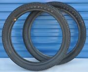 Vintage Goodyear Road Racing Tires Pair 3.50 X 19 Motor Racer Traction