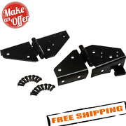 Kentrol 50403 Black Windshield Hinges Pair For 1976-1995 Jeep Cj And Wrangler Yj