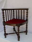 Antique French Louis Xiii 19th Century Corner Chair
