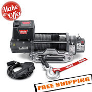 Warn 87800 M8000 Series 12v Electric Winch With 100and039 Synthetic Rope 8000 Lbs.