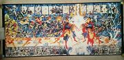 Dc Comics Crisis On Infinite Earths Signed By George Perez And Alex Ross 65 X 29