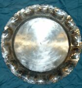 Giant Sterling Silver 925 Antique Platter 2.64 Lbs 1200 Grams 42.3 Oz Very Rare