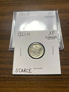 1921-d Mercury Silver Dime 10c Extra Fine Xf Cleaned Rare Key Date