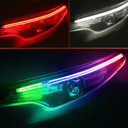 2andtimes Rgb Led Drl Car Styling Daytime Running Light Strip For Headlight Accessories