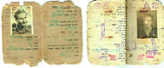 Very Rare Irgun Etzel 2 Documents Of The Member Zeev Ostrovich 1946 And 1948