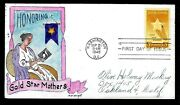 969 3c Stamp 1948 Gold Star Mothers William N. Wright Hand Painted Fdc