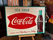27 Tin Embossed Coca Cola Coke 1960's Advertising Sign Watch Video