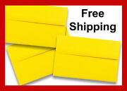 Sun Yellow A7 Envelopes 5-1/4 X 7-1/4 For Up To 5 X 7 Greeting Cards Response