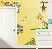 In The Jungle Wildlife Animal Stickers Wall Decals Ideal For Kids Bedroom Décor
