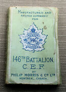 Ww1 Canadian Empty Cigarette Pack For The 146th Battalion