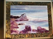 Charles Lee Original Acrylic Painting On Canvas Morning Waves Signed/framed