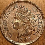 1903 United States Indian Head Penny Coin - Uncirculated