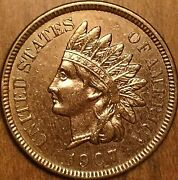 1907 United States Indian Head Penny Coin - Fantastic Example Cleaned
