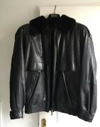 Leather And Vison Jacket Zilli New Price 11.500 Andeuro.