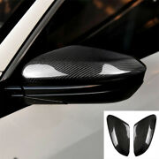 Real Carbon Fiber Side Wing Mirror Rearview Mirror Cover For Honda Civic 16-20