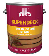 Superdeck Solid Pastel Base Acrylic Latex Wood Stain 1 Gal.