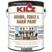 Kilz White Oil/water Siding Fence And Barn Paint 1 Gal.
