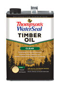 Thompsonand039s Waterseal Transparent Clear Penetrating Timber Oil 1 Gal.