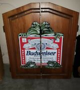 Budweiser Frogs Dart Board Rare Discontinued Will Not Find Another Usa