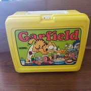 Vintage 1978 Garfield 4 Plastic Lunch Boxes With 8oz Thermos And 2 Bowls