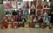 1988 - 2015 Holiday Barbies Lot Collection 31 Dolls Set New Local Pick-up Only