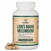 Lions Mane Mushroom Capsules Two Month Supply - 120 Count Organic