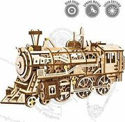 Rokr 3d Wooden Puzzle Gift For Teens And Adults Locomotive Mechanical Building M