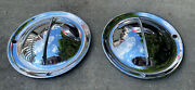 1940's 1950's Vintage Ford Mercury Hollywood Flipper Hubcaps Hub Caps Moon Cover