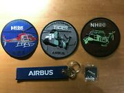 3 France Patch Air Force Helicopter Airbus H125 Tiger Nh90 + Keyring + Pin