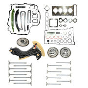 Timing Chain Kit + Gasket Set + Cam Gears + 16 Valves For Mercedes C-class W204