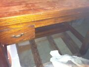 Antique Wood Drafting Table Or Use As Desk, Vintage Industrial Tops Lifts Up