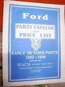 Mac's Antique Auto Early V8 Ford Parts 1932-1948 Catalog 1991