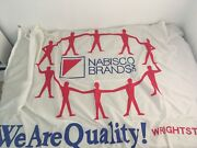 Full Sized Nabisco Flag- Writestown Wisconsin Plant- Snack Mate Cheese