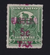 Canada Vd Ogt10 1928 5c Red Gasoline Tax Revenue Stamp Used