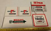 Vintage Wrigleyand039s 10 Pack Spearmint Gum Advertising Store Display Sign Lot