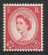 Sg S63 Unlisted 2andfrac12d Wilding 4mm Blue Phos 2 Narrow Bands Rps Cert Unmounted Mint