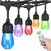 Dimmable Led Christmas Lights Rain-proof Hanging Colorful Bulbs With Remote 220v