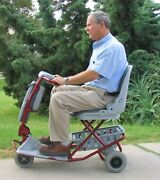 Tzora Classic Easy To Travel Lightweight Scooter- 4 Wheel- Divides Or Folds New