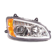 Kenworth T660 Chrome Projector Headlights W/led Bar And Signal For 2008-2016 - Pas