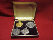 Vintage Swank Religious Medals Quantity Of 4