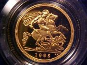 1985 Gold Proof Half-sovereign - The Royal Mint