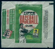 1452 1962 Topps Baseball 5 Cent Wax Wrapper Bazooka Full Color Stamps