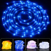 Christmas Lights Multi-color Led Solar Rope Tubes For Outdoor Garden/patio Lamps