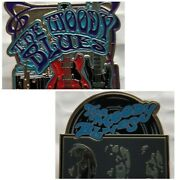 Lot Of Two Moody Blues Enamel Pin Official Tour Merch Red Guitar Justin Hayward