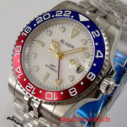 Bliger 40mm Gmt Automatic Men Watches Sapphire Crystal Auto Date Jubilee Strap
